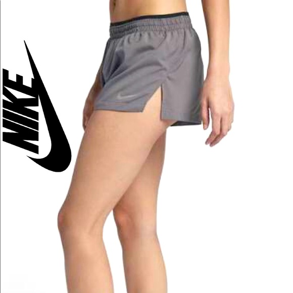 NIKE Flex Elevate Running Shorts Silver Gray XS